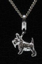 Zilveren Terrier hanger én bedel