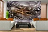Fotobehang 3D, Design | Paars | 208x146cm