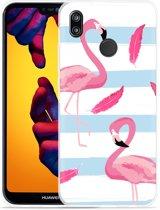 Huawei P20 Lite Hoesje Flamingo Feathers