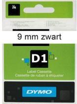 Lettertape Dymo D1 40913 Zwart op Wit 9mmx7m