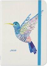 Agenda 16-maands 'Watercolor Hummingbird' 2018/2019