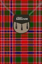 Allison Clan Tartan Journal/Notebook