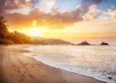 Papermoon Karnataka Beach Vlies Fotobehang 250x186cm 5-Banen
