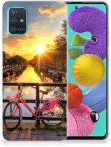 Samsung Galaxy A51 Siliconen Back Cover Amsterdamse Grachten