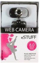 eSTUFF ES3004 Zwart, Zilver webcam