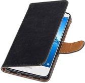 Wicked Narwal | Premium PU Leder bookstyle / book case/ wallet case voor Huawei Y7 / Y7 Prieme Zwart