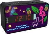 Bigben Wekkerradio Neon - 3 Wisselbare Panelen