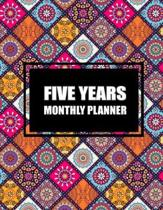 Five Year Monthly Planner: Colorful Mandala Book, Five Years Calendar Planner, Monthly Calendar Schedule Organizer (60 Months Calendar Planner)