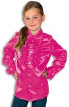 Rouches blouse roze voor jongens 140