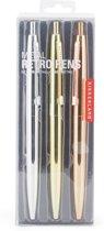Metalen retro pennen