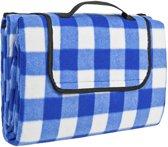 TecTake - Picknick deken / kleed 200x150cm blauw/wit geruit 401598