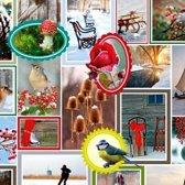 Cadeaupapier Kerst - print 7 - 30cm - 200m - 80gr | Winkelrol / Apparaatrol / Toonbankrol / Geschenkpapier / Kadopapier / Inpakpapier