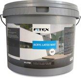 Fitex Muurverf Acryl Latex Mat - Wit - 10 liter