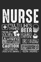 Nurse: Medical Multitasking ruled Notebook 6x9 Inches - 120 lined pages for notes, drawings, formulas - Organizer writing boo