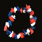 Rood, wit, blauw Hawaii kransen - Hawaii slingers 96 stuks