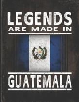 Legends Are Made In Guatemala: Customized Gift for Guatemalan Coworker Undated Planner Daily Weekly Monthly Calendar Organizer Journal