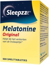 Sleepzz - Melatonine Original Slaaptabletten - 500 smelttabletten - Voedingssupplement