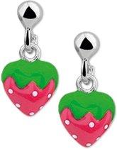 The Kids Jewelry Collection Oorhangers Aardbei - Zilver