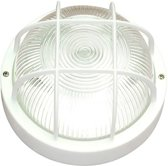PROLIGHT bull-eye ronde wandlamp in kunststof, maat Ø 185 mm | wit