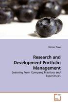 Research and Development Portfolio Management