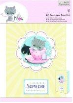 A5 Decoupage Card Kit - Little Meow