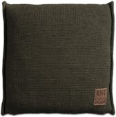 Knit Factory Uni Kussen - 50x50 cm - Groen
