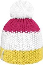 Brekka Ski Pon - Muts -  Dames - Maat One Size - Roze;Wit;Geel