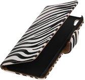 Sony Xperia XA Hoesje Zebra Bookstyle Wit