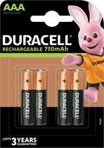 Duracell AAA Oplaadbare Batterijen - 4 stuks