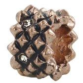 Quiges - Rosé goudkleurige Aanschuif Charm Bedel Wiel voor Quiges Wikkelarmbanden - EHC092