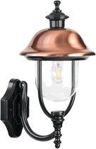 Buiten wandlamp staand - Verona-II - zwart