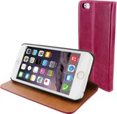 Mobiparts Luxury Book Case Apple iPhone 6/6S Ruby Pink