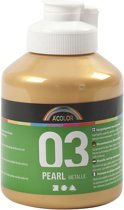 A-color Metallic acrylverf, goud, 03- metallic, 500 ml