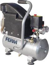 FERM CRM1044 Compressor (Oliegesmeerd) - 8 Liter - Max. 8 bar - 750W - Incl. 1/4 inch Universele snelkoppeling en 2 Manometers