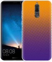 Huawei Mate 10 Lite Hoesje oranje paarse cirkels