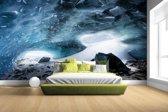 Fotobehang vinyl - Gletsjergrot breedte 380 cm x hoogte 265 cm - Foto print op behang (in 7 formaten beschikbaar)