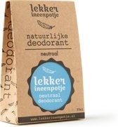 LEKKER IN EEN POTJE natuurlijke deodorant – Geurloos – 30 ML