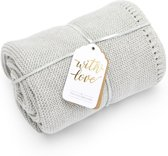 Organic Knit Baby Blanket Dove
