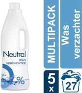 Neutral 0% Parfumvrij Vloeibaar - 135 wasbeurten - 5 x 750 ml - Wasverzachter - Voordeelverpakking