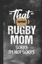 That Rugby Mom Sorry I