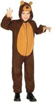 Dierenpak verkleed kostuum beer - beren onesie voor kinderen 5-6 jaar (110-116)