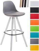 Clp Franklin Barkruk - Vierkant frame - Kunstleer - Grijs - Kleur onderstel : zwart