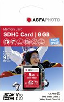 SD Card 8GB AgfaPhoto SDHC Class10 UHS-1 15MB/45MB retail