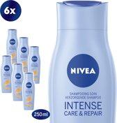 NIVEA Intense Care & Repair Shampoo - 6 x 250 ml - Voordeelverpakking