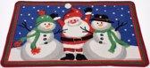 Deurmat Kerst (kerstman en 2 sneeuwpoppen)