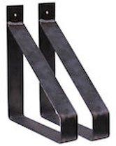 Steigerhoutpassie stalen plankdrager per set - Staal