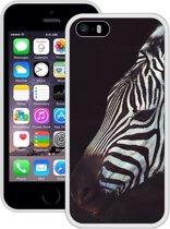 Case Creatives Telefoonhoesje Zebra - iPhone 5 5s SE  Wit - Handgemaakt