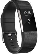 Siliconen polsbandje voor de Fitbit Charge 2 - Maat S - Zwart