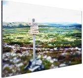 Wandelsteken in de natuur Aluminium 90x60 cm - Foto print op Aluminium (metaal wanddecoratie)