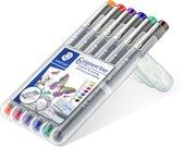 pigment liner fineliner - box 0,3 mm - 6 kleuren